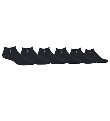 Polo Ralph Lauren Cushioned Cotton No Show Socks - 6 Pack
