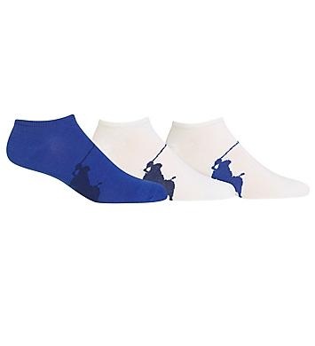 Polo Ralph Lauren Big Polo Player No Show Socks - 3 Pack