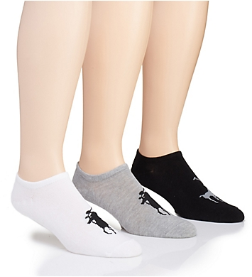 Polo Ralph Lauren Knit-In Pony Player No Show Sock - 3 Pack