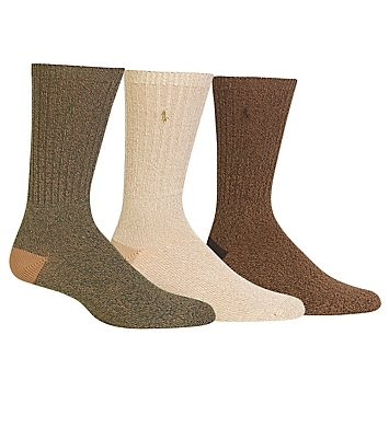Polo Ralph Lauren Supersoft Ragg Crew Sock - 3 Pack
