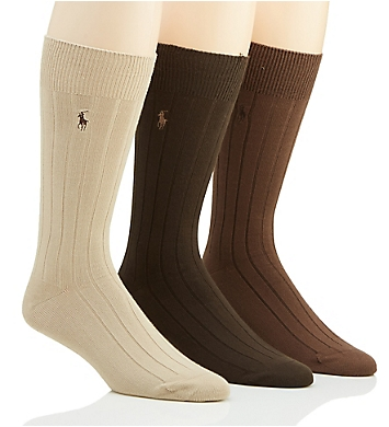 Polo Ralph Lauren 10X2 Super Soft Rib Socks - 3 Pack