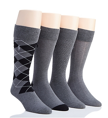 Polo Ralph Lauren Classic Flat Knit Crew Socks - 4 Pack