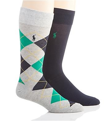 Polo Ralph Lauren Argyle Cotton Socks - 2 Pack