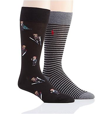 Polo Ralph Lauren Holiday Polo Bear Socks - 2 Pack