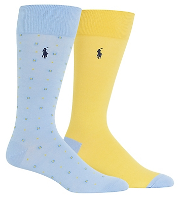 f71878e899168 Polo Ralph Lauren Pastel Neat Crew Socks - 2 Pack 899796PK - Polo ...