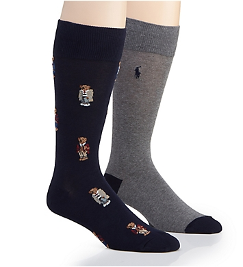 Polo Ralph Lauren Bear Quad Crew Socks - 2 Pack