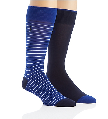 Polo Ralph Lauren Thin Stripe Dress Socks - 2 Pack