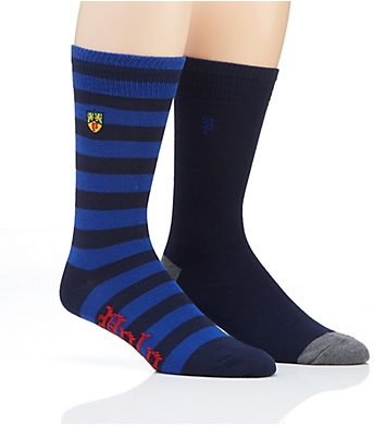 Polo Ralph Lauren Rugby Crest Embroidery Socks - 2 Pack