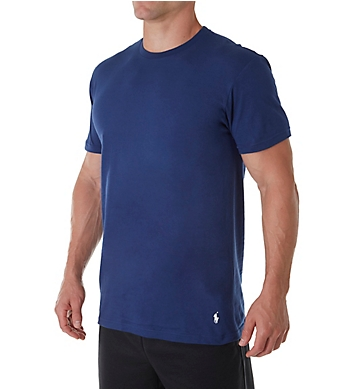 Polo Ralph Lauren Classic Fit 100% Cotton Crew T-Shirts - 3 Pack