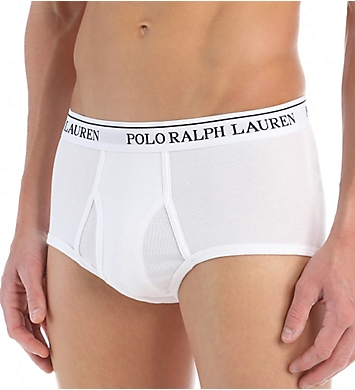 Polo Ralph Lauren Classic Fit 100% Cotton Mid-Rise Briefs - 4 Pack