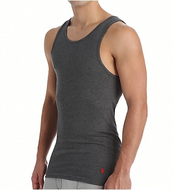 Polo Ralph Lauren Classic Fit Ribbed 100% Cotton Tanks - 3 Pack