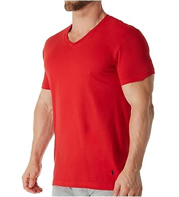 Polo Ralph Lauren Classic Fit 100% Cotton V-Neck Shirts - 3 Pack