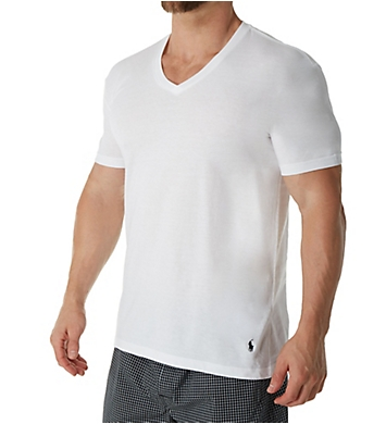Polo Ralph Lauren Classic Fit 100% Cotton V-Neck Shirts - 5 Pack