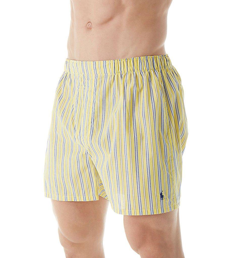 Polo Ralph Lauren Classic Fit 100% Cotton Woven Boxers - 3 Pack