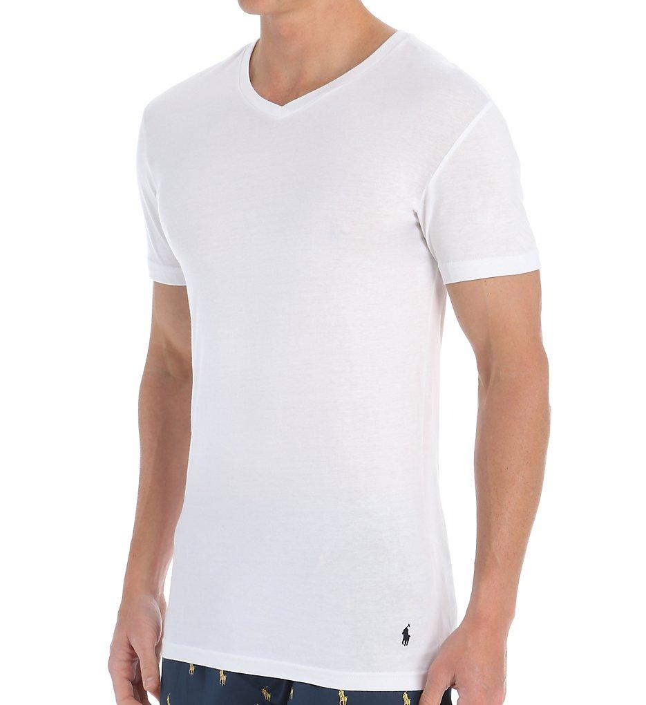 T shirt slim fit white - Polo Ralph Lauren Slim Fit Cotton V Neck T Shirts 3 Pack