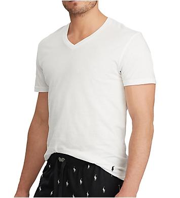 Polo Ralph Lauren Tall Classic Fit 100% Cotton V-Neck Shirt - 3 Pack