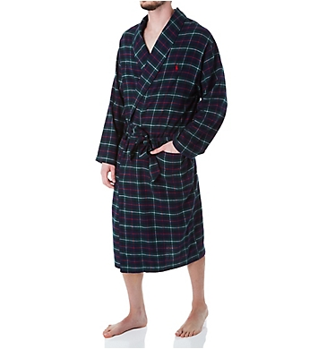 Polo Ralph Lauren Flannel 100% Cotton Plaid Pajama Robe