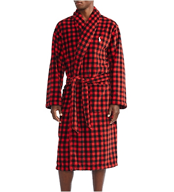 Polo Ralph Lauren Microfiber Shawl Collar Plush Robe