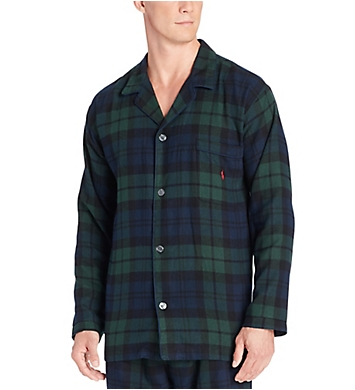 Polo Ralph Lauren Flannel Long Sleeve Pajama Top