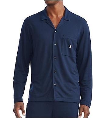 Polo Ralph Lauren Mini Terry Long Sleeve Pajama Shirt