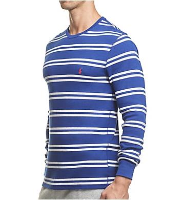 Polo Ralph Lauren Midweight Waffle Stripe Long Sleeve Crew