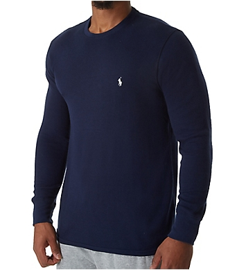 Polo Ralph Lauren Lightweight Waffle Long Sleeve Crew Sleep Shirt