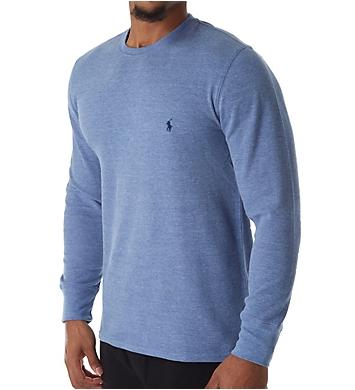 Polo Ralph Lauren Lightweight Waffle Long Sleeve Crew Sleep Shirt