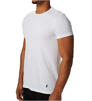 Polo Ralph Lauren Classic Fit 100% Cotton Crew T-Shirts - 4 Pack