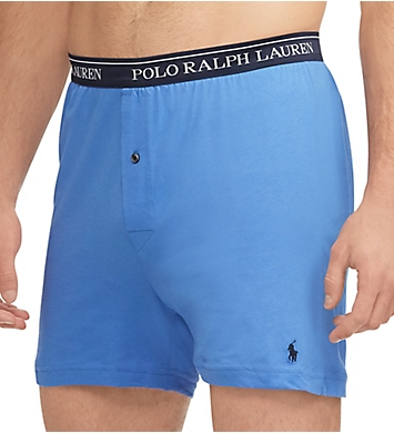 Polo Ralph Lauren Classic Fit 100% Cotton Knit Boxers - 5 Pack