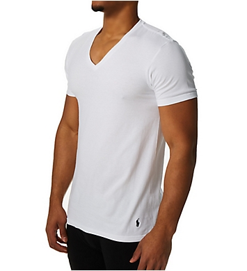 Polo Ralph Lauren Classic Fit 100% Cotton V-Neck T-Shirts - 4 Pack