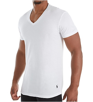 Polo Ralph Lauren Classic Fit 100% Cotton V Neck T-Shirts - 5 Pack