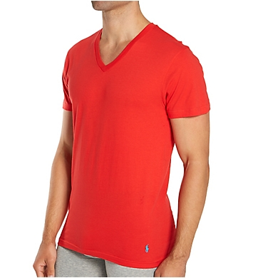 Polo Ralph Lauren Classic Fit 100% Cotton V-Neck T-Shirts - 3 Pack