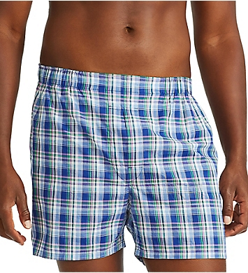 Polo Ralph Lauren Classic Fit Cotton Woven Boxers - 3 Pack
