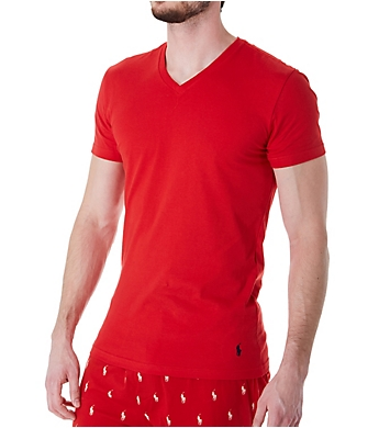 Polo Ralph Lauren Slim Fit 100% Cotton V-Neck T-Shirts - 3 Pack