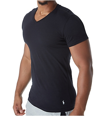 Polo Ralph Lauren Slim Fit 100% Cotton V Neck T-Shirts - 3 Pack