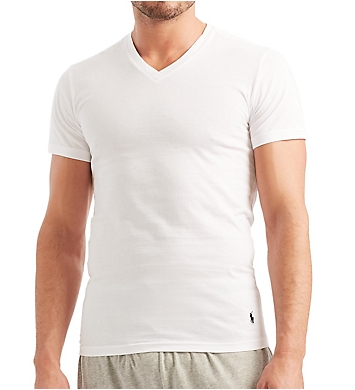 Polo Ralph Lauren Slim Fit 100% Cotton V Neck T-Shirts - 5 Pack