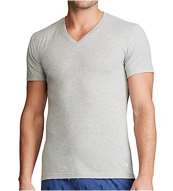 Polo Ralph Lauren Stretch Slim Fit V-Neck T-Shirts - 3 Pack