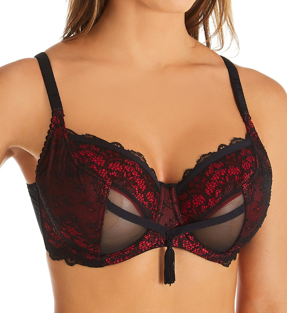 Pour Moi - Pour Moi 16502 Contradiction Imagine Underwire Bra (Black/Red 32C)