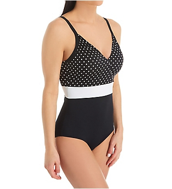 Pour Moi High Line V Neck Control One Piece Swimsuit