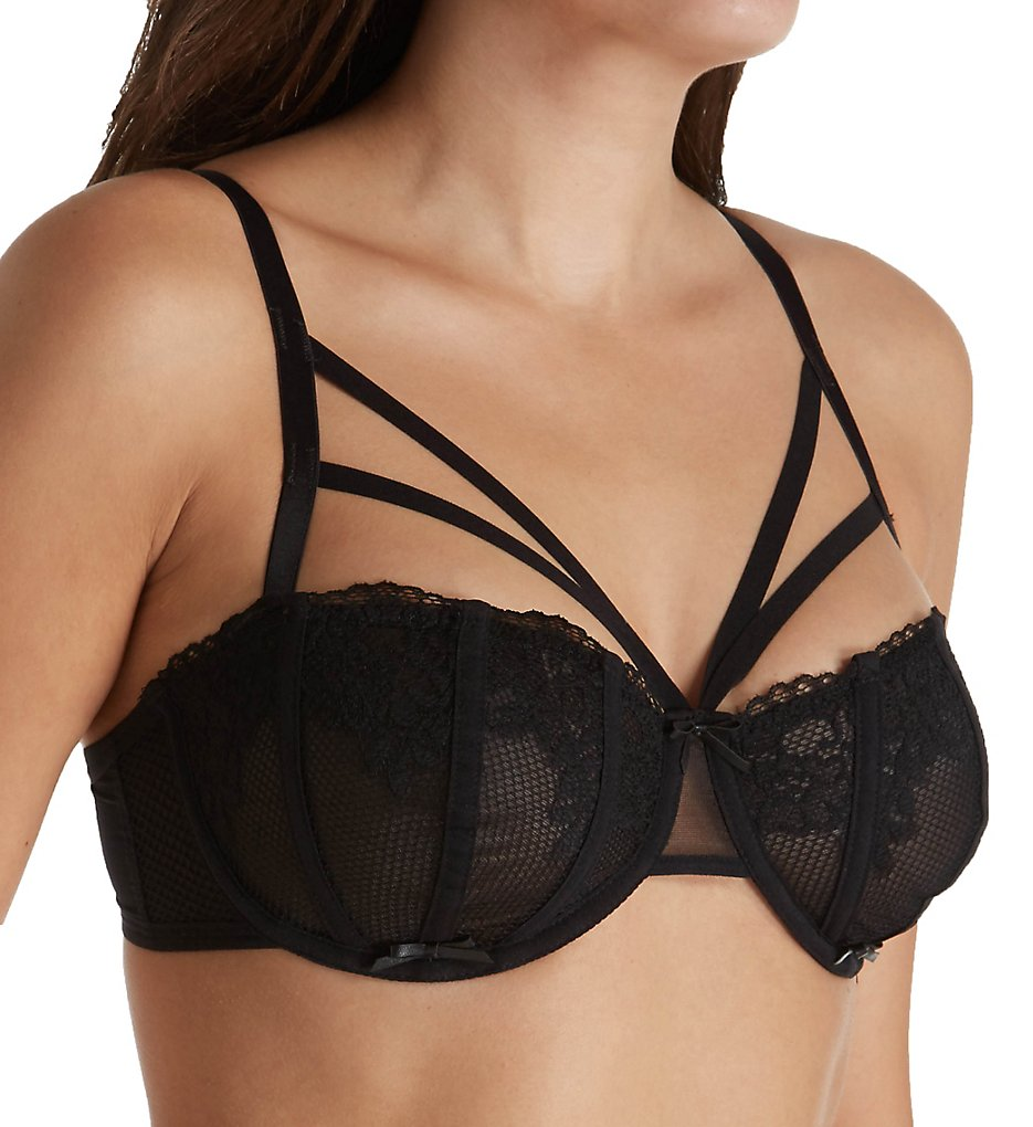 Pour Moi - Pour Moi 50000 Contradiction Strapped Underwire Bra (Black 32C)