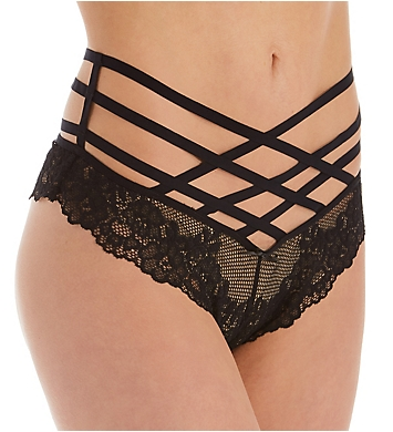 Pour Moi Contradiction Strapped High Waist Brief Panty