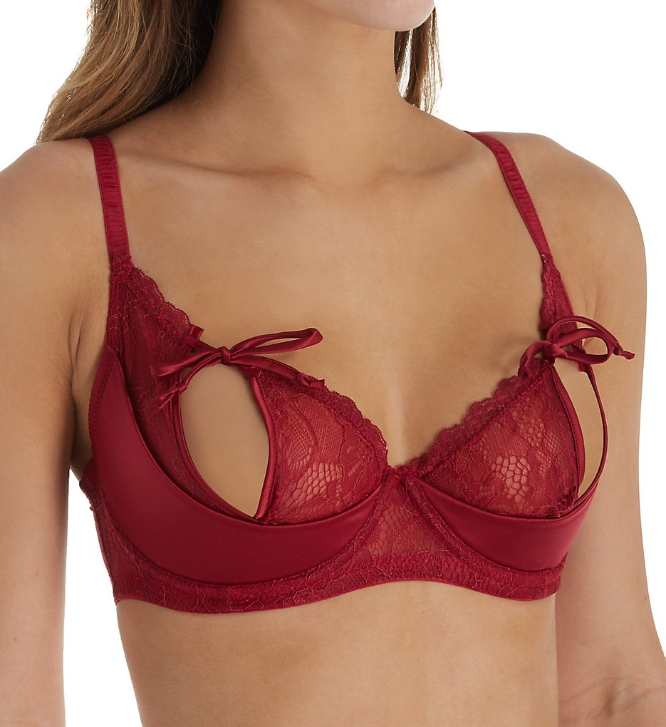 Pour Moi 52000 Contradiction All Tied Up Underwire Bra (Ruby Red)