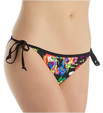 Pour Moi Black Dahlia Tie Side Bikini Brief Swim Bottom