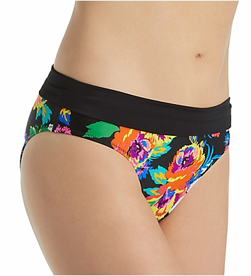 Pour Moi Black Dahlia Mid Rise Brief Swim Bottom