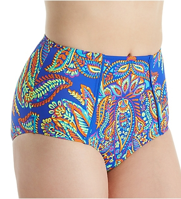 Pour Moi Amalfi High Waist Control Brief Swim Bottom