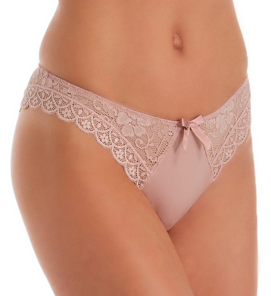 Pour Moi - Pour Moi 84004 Rebel Brazilian Brief Panty (Rose Gold XS)