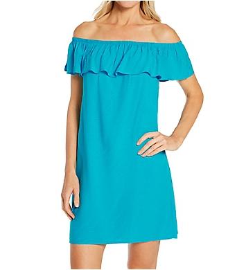 Pour Moi Textured Woven Bardot Beach Dress Cover Up