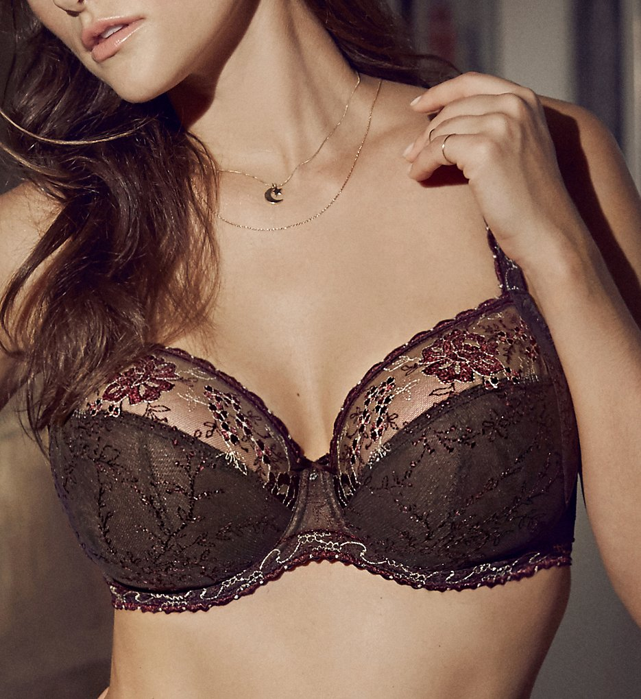 Prima Donna - Prima Donna 016-2880 Golden Dreams Full Cup Bra (Wenge 32D)