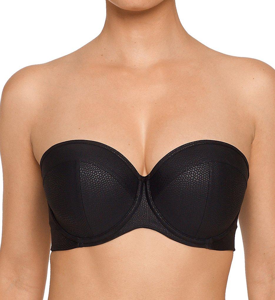 e8ea752e62 Prima Donna 4004417 Freedom Strapless Padded Bikini Swim Top (Black 32G)