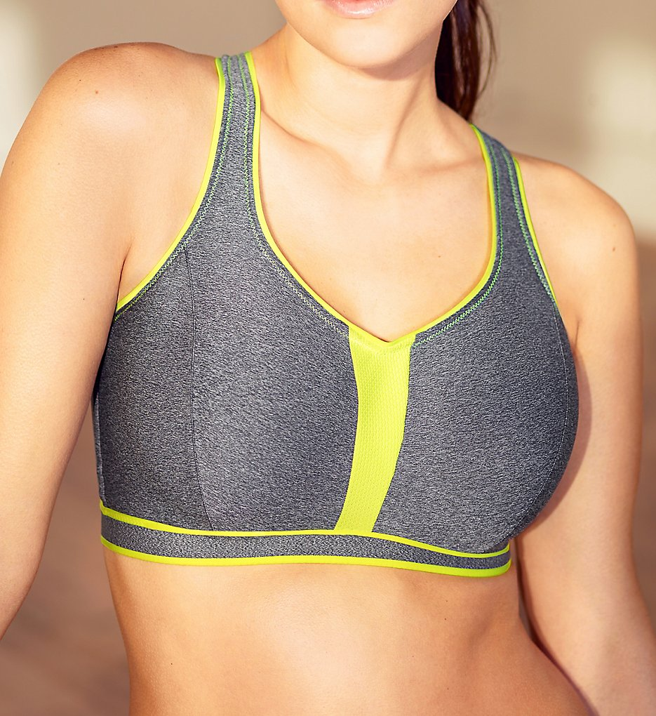 Prima Donna - Prima Donna 6000110 The Sweater Underwire Sports Bra (Cosmic Grey 38C)